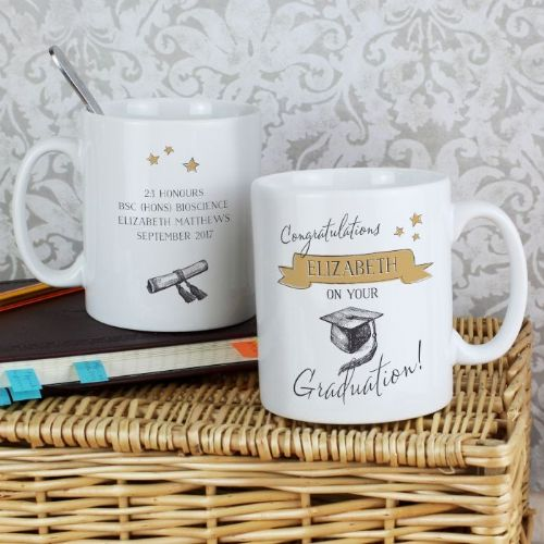 Personalised Gold Star Graduation Mug